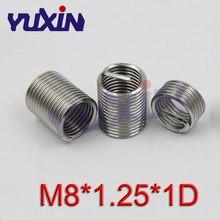 10X New M8*1.25 1.5D insert Length Helicoil Stainless Steel Screw Thread Insert