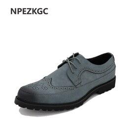 Npezkgc sping fashion oxfords formal shoes genuine leather dress shoes men s brogue carved flats vintage.jpg 250x250