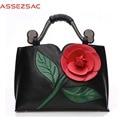 Assez sac! 2016 women handbags ladies PU leather big flower printing messenger bag feminina bag girl's totes bolsas bag LS7084
