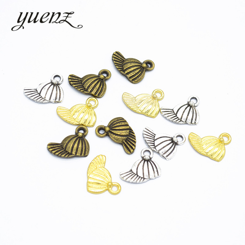 Provided Yuenz 160pcs Antique Style Baseball Cap Charm Fit Bracelet Necklace Pendant Diy Jewelry 13*11mm N142 Save 50-70%