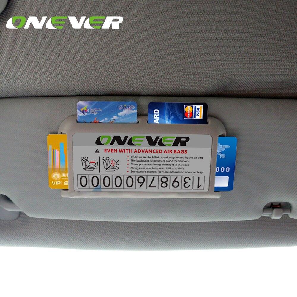 Onever Car Sun Visor Card Holder Parking Card Business Cards ...