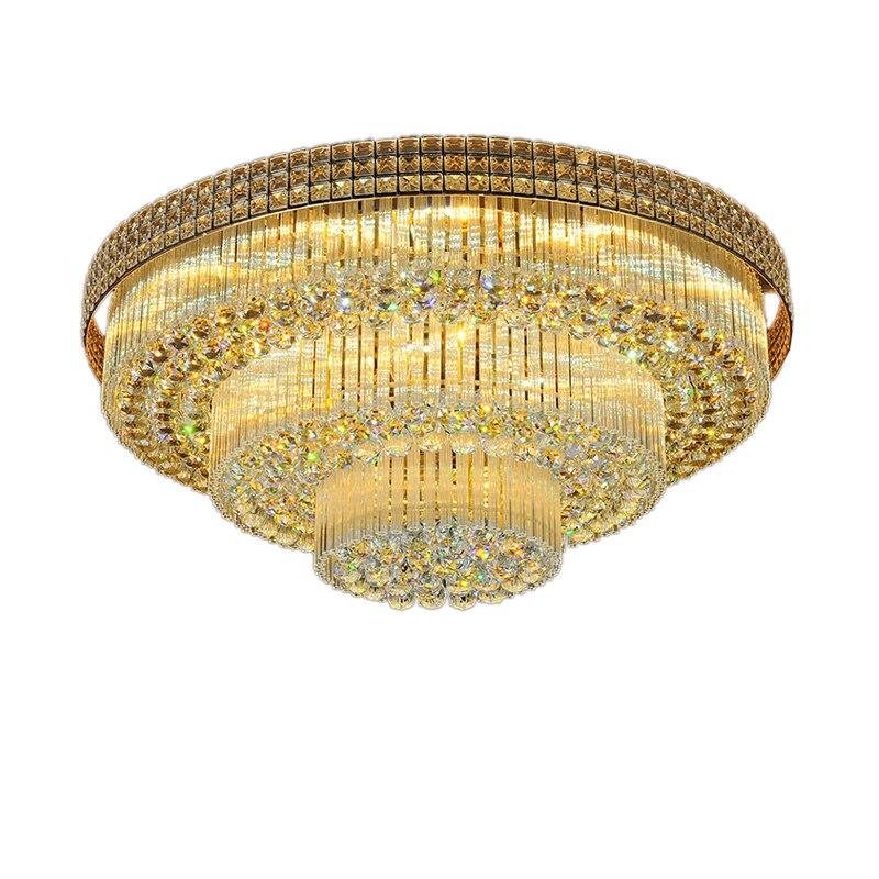 Z D100CM X H38CM LED moderne K9 cristal plafonnier sphère avec télécommande Design plafonnier luminaire pour salle de séjour