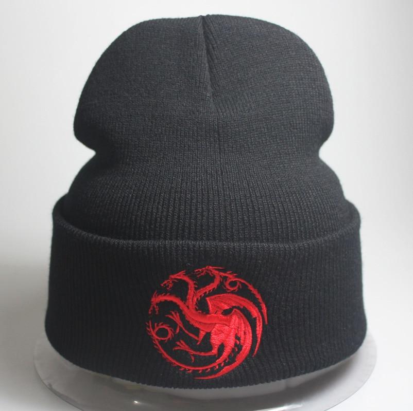 Fashion New Men Women Dragon Warm Caps Beanies Game of thrones Skullies Knitted Hats Bone