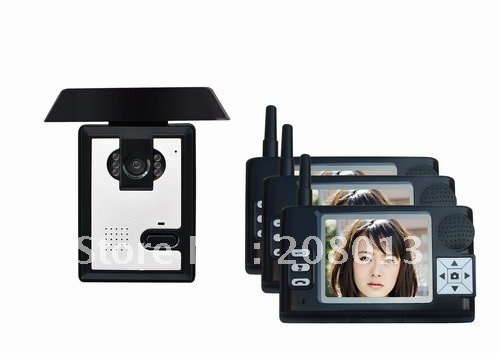 Top selling Cheapest wholesale price Free Shipping Long distance 20Pcs/carton 3.5 inch 1 in 3 wireless video doorbell