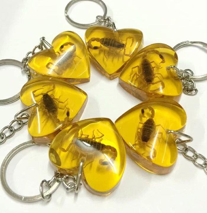 Takı ve Aksesuarları'ten Anahtar Zincirleri'de ÜCRETSIZ KARGO YQTDMY Akıllı Alışveriş 100 ADET kişisel altın akrep kral kalp tasarım şık anahtarlık'da  Grup 2