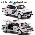 1:32 alloy car models,high simulation LADA car , metal diecasts, toy vehicles, pull back & flashing & musical