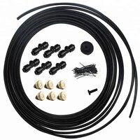 6 м ~ 18 м наружное запотевание распылитель системы комплект для теплицы цветы водное орошение небулайзер Спринклер