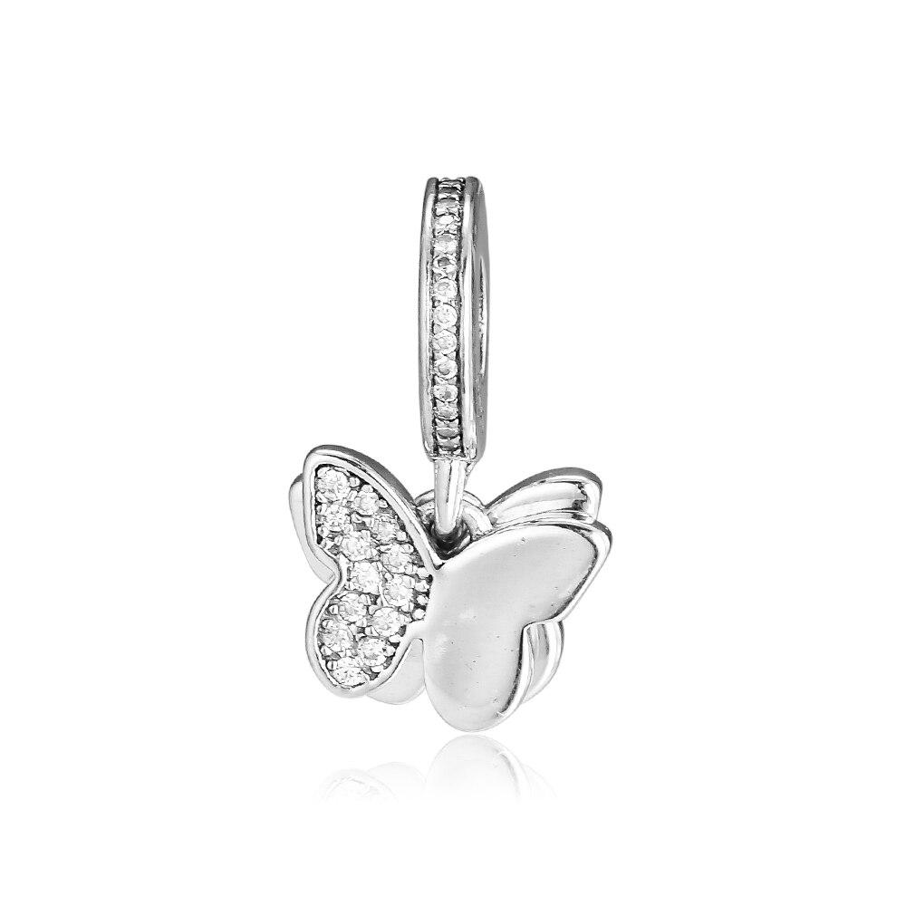 CKK Fit Pandora Bracelets Fluttering Butterflies Charms 925 Original Sterling Silver Charm Beads For Jewelry Making Bead