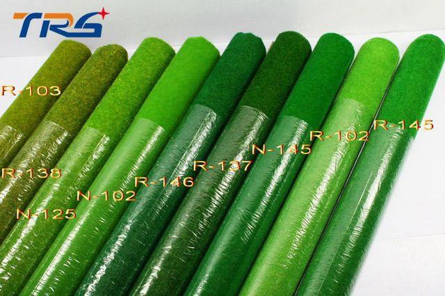 2 unids 50*250 cm R138 amarillo color verde el petate modelo de terreno paisaje material de modelo arquitectónico arena césped