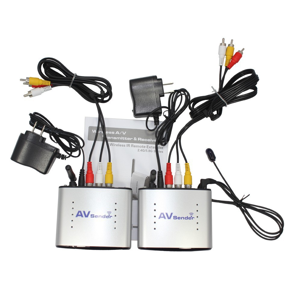 REDAMIGO PAT220R 2.4GHz IR Remote Extender 150m Wireless AV Transmitter & Receiver Compatible with DVD, DVR, CCD camera, IPT ect