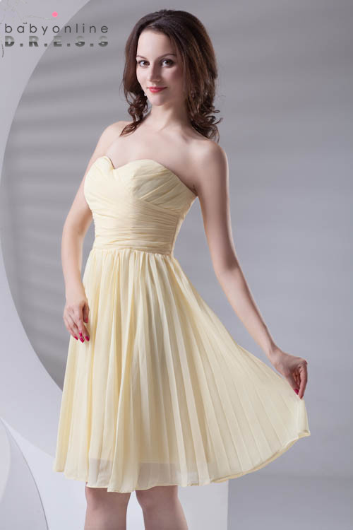 Custom Color Chiffon Elegant Ruched   Bridesmaid     Dresses   Strapless Pleat Wedding Soild Party   Dresses   Short Prom Gown Vestidos