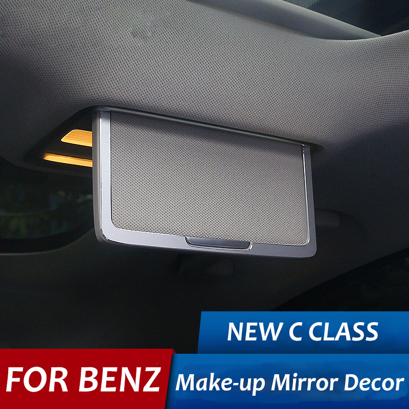 For Mercedes Benz Car Make up Mirror Decor Cosmetic Mirror Frame Trim Stickers C Class C200L C260L Car Interior Accessories auto fuel filter 163 477 0201 163 477 0701 for mercedes benz