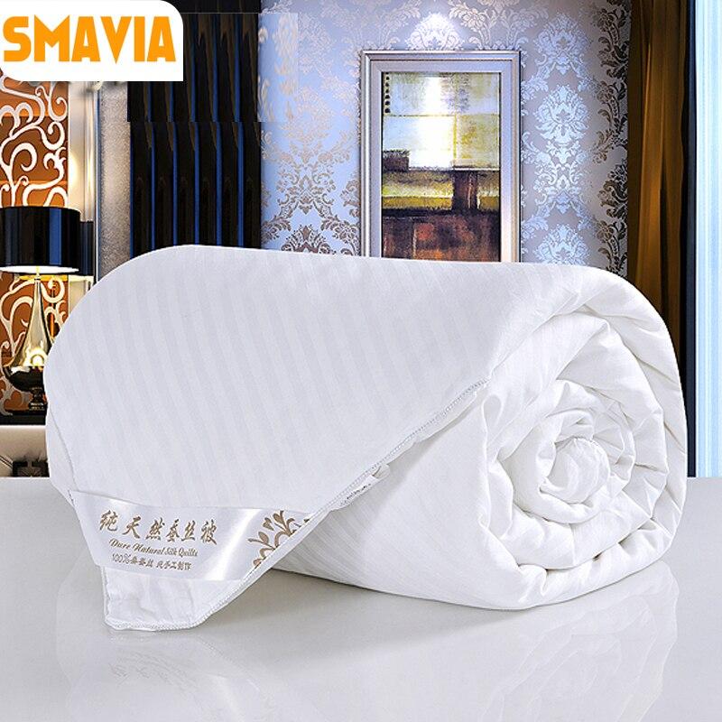 √Smavia prima 100% edredón de seda usada en invierno frío/simple