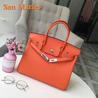 San Maries Luxury Designer Brand Handbags High Quality Real Leather Ladies Purse Shoulder Bag Classic Female Tote