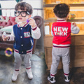 Anlencool High quality new arrive baby boys clothes set hoodied clothes suit 2 colors boys sports suit Retail and free shipping