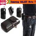 """Aliexpress genuine correia de transporte de couro clipe de bolsa de cintura bolsa case capa para samsung galaxy note 7 5.7 """"telefone Frete Grátis Gota"""