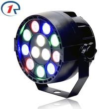 ZjRight 15W Red Green Blue White 12 LED par light DMX512 Sound control LED stage light for music concert bar disco effect lights