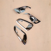 Quality ABS Chrome 4PCS Inner Door Handle Decoration stickers Fit For 2015 Chevrolet cruze car stying Interior Accessories