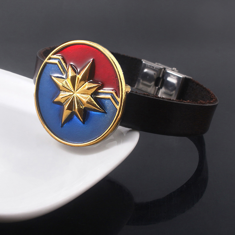 SG Captain America Bracelets Avengers 4 Carol Danvers Star Shiled Bangles Iron Man Pulsera For Men Women Fashion Jewelry Gift