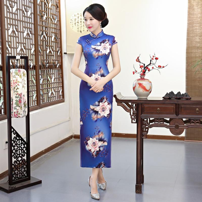 c2c5ab3f51e Taille Nouvelle Fleur Qipao Xl 1894 Nouveauté Arrivée 18100 18102 M Robes  Sexy Xxxl Robe Plus Chinois 1890 Xxl Femmes Élégant Longue Cheongsam Fleurs  1891 L ...
