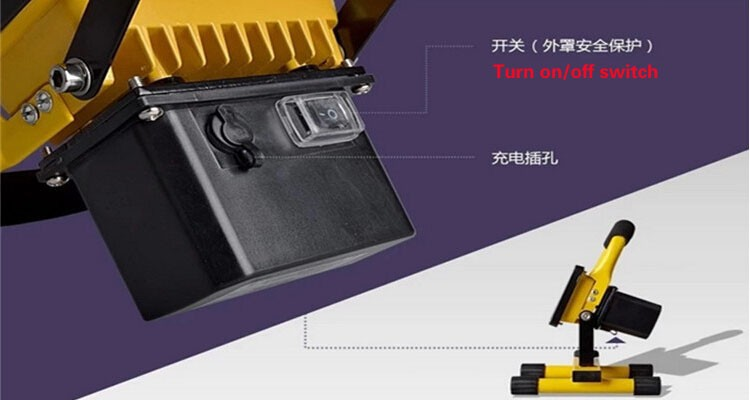 10w LED Portable floodlight LED Rechargeable floodlight LED Outdoor Emergency LED Spotlight motion sensor projector