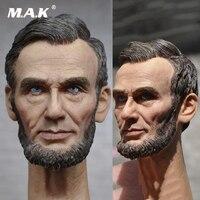 1/6 Male Head Sculpt American President Abraham Lincon Head Sculpt Head Carved Model Toys Fit 12 Action Figure Body
