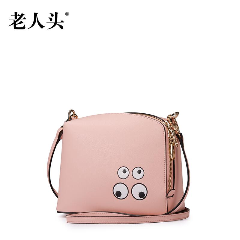 ФОТО LAORENTOU 2016 New brand women leather bag fashion cute cartoon quality woemn leather shoulder bag wild simple small bag
