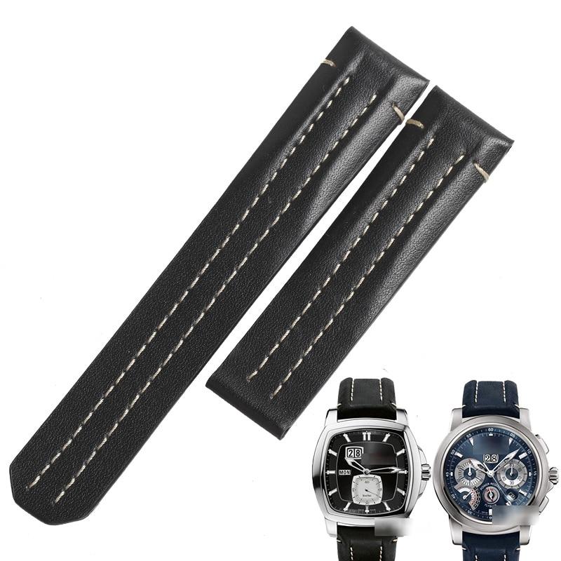 WENTULA bracelets de montre pour Carl F. Bucherer PATRAVI bracelet en cuir de veau en cuir de vache bracelet de montre en cuir véritable
