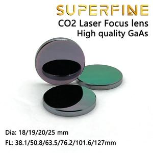 """Image 3 - Objectif de mise au point GaAs super fine Dia. Machine de découpe Laser CO2, 18 19 20 25mm FL 50.8 63.5 101.6mm 1.5 4"""""""