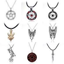 Collar con diseño sobrenatural Dean Winchester Jensen Ackles amuleto colgante de joyería para hombres y mujeres al por mayor
