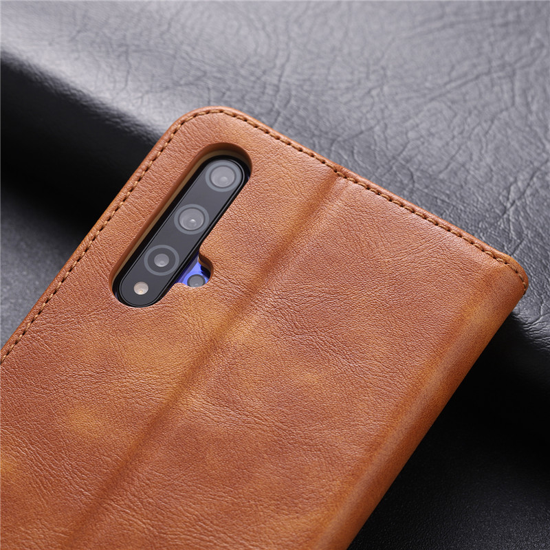 For Huawei Honor 20 Case PU Leather Stand Case Book Flip Style Mobile Phone Cases For Huawei Honor 20 Soft TPU Back Cover in Flip Cases from Cellphones Telecommunications