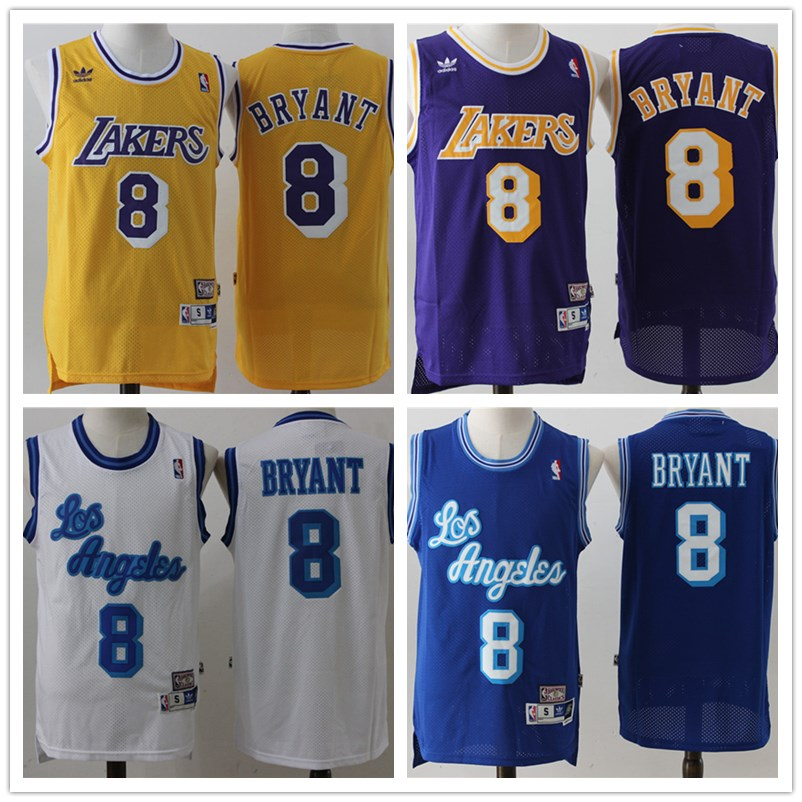 ... Cheap Mens retro 8 Kobe Bryant basketball jerseys Stitched High quality  Jersey free shipping ... 0d255da29