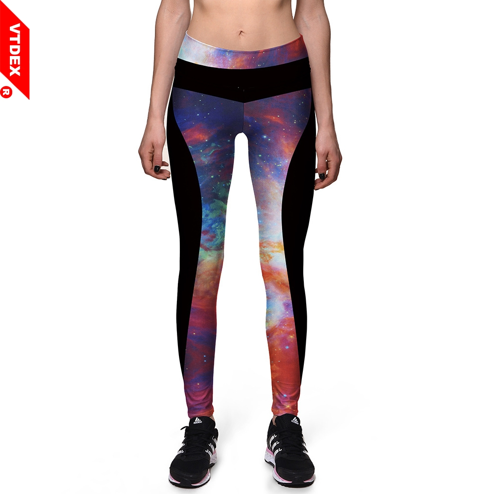 1e10c439d2088 VTDEX Women Galaxy Leggings Stars Pattern Elastic Yoga Pants Digital Print  Quick Dry Workout GYM Skinny Pants-in Yoga Pants from Sports &  Entertainment on ...