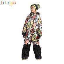 Зимние уличные детский лыжный костюм; ветрозащитная Водонепроницаемая теплая зимняя женская обувь, утепленные цельный лыжный костюм для детей, для занятий спортом на открытом воздухе