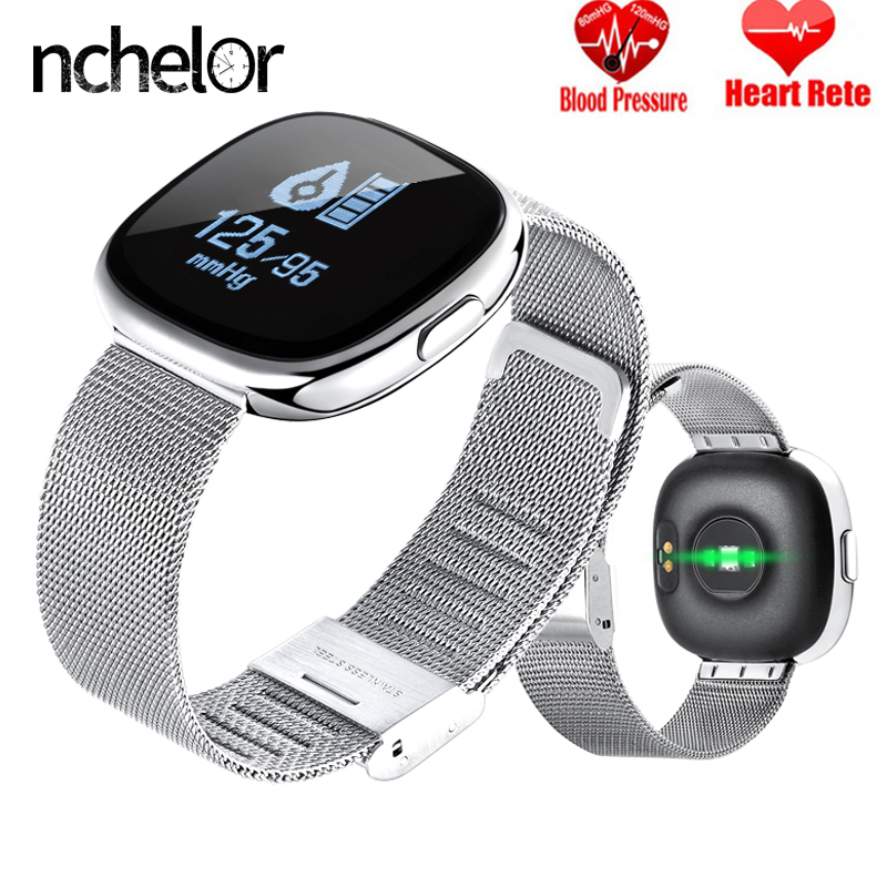 все цены на NEW Bluetooth Smart Bracelet with Heart Rate Monitor Waterproof Pedometer Fitness Tracker Women Men Smart Watch for IOS Android