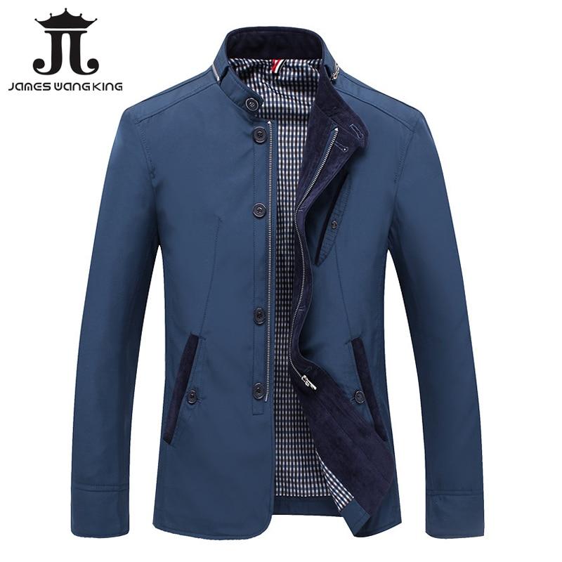 2018 Automne Veste Hommes Coupe-Vent Plus 4XL Pour Hommes Mince Vestes D'hiver Gentleman Affaires Zipper Manteaux homme Jaqueta masculina