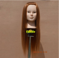 Free Shipping Hair Training Head Long Hair Hairdressing Cutting Training Mannequin Head With Clamp