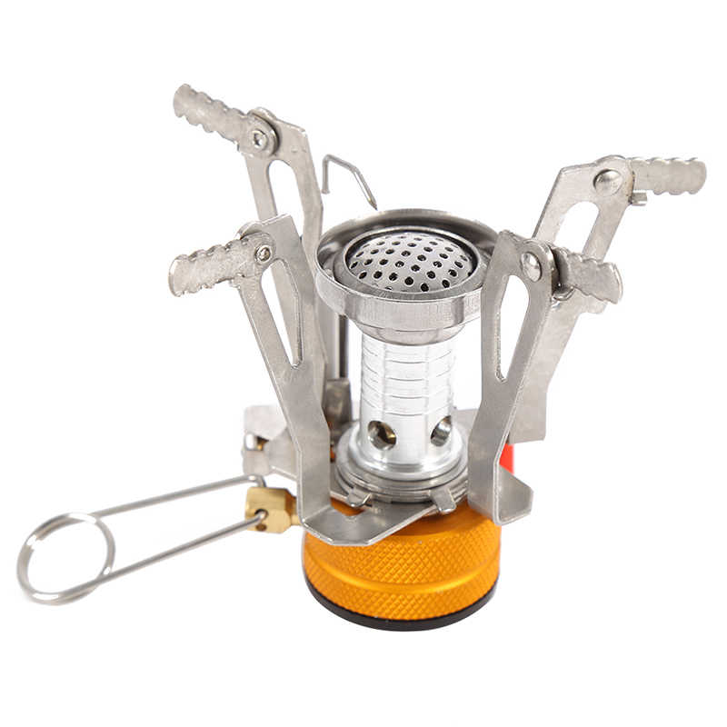 Camping Cooking Supplies Portable Outdoor Picnic Gas Foldable Mini Steel Stove Case New