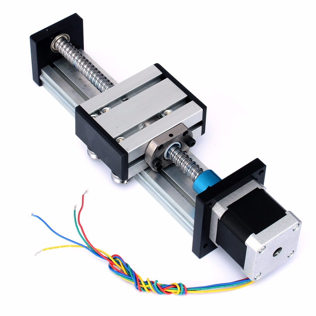 High Precision Ball Screw 1204 Nut Linear Slide Stroke 100MM Long Stage Actuator Stepper Motor for CNC Machine Mayitr 270*50mm belt driven linear slide long travel distance guideway linear actuator