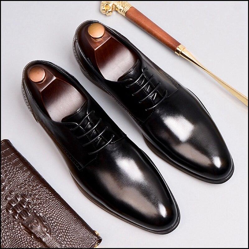3eef01e6646302 Acheter Homme Britannique Robe Formelle Sculpté Chaussures Derby En ...