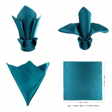 Aytai 1pc Satin Polyester Wedding Table Napkins Handkerchief 6 Colors for Restaurant Dinner Banquet Decoration