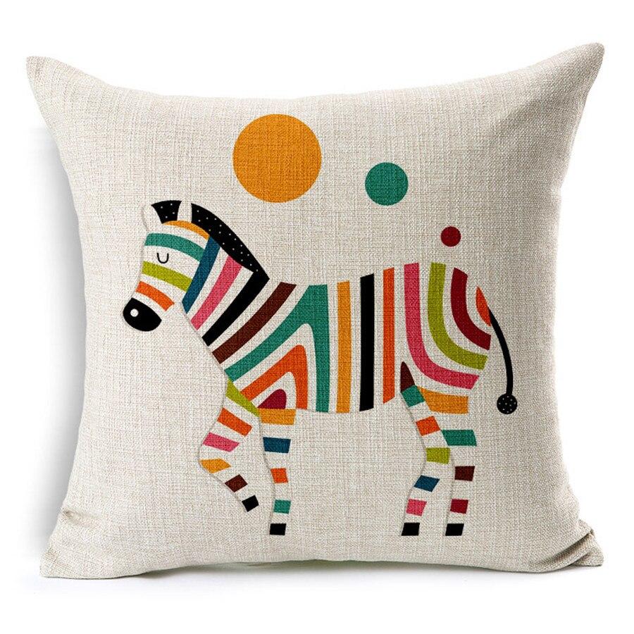 asientos de lino del algodn cojn almohada para unid txc y decoracin de arte con colorido cebra para regalos y regalos