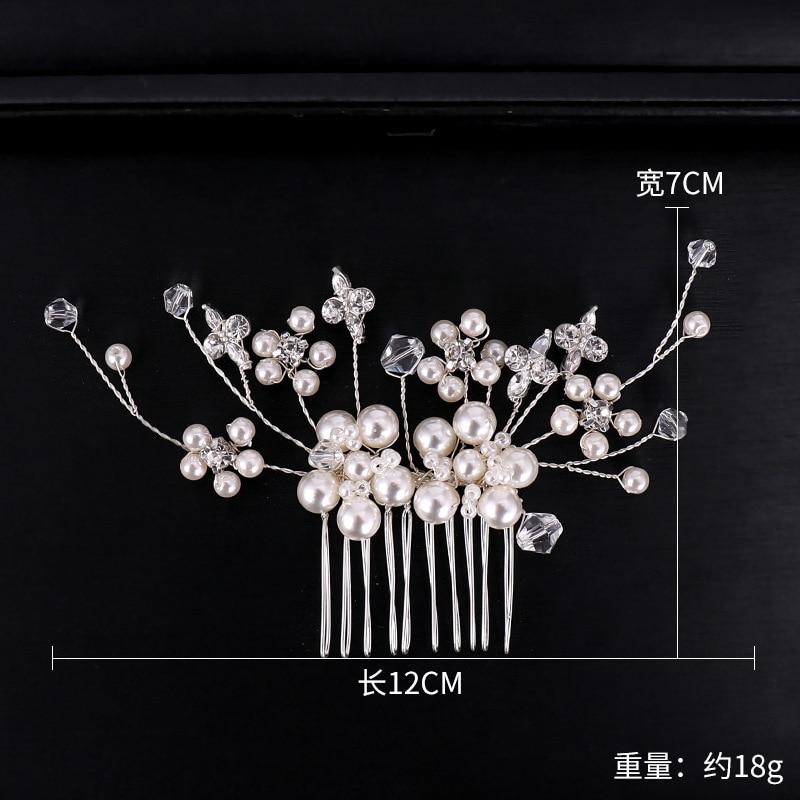 Silver Pearl Crystal Hair Combs (1)