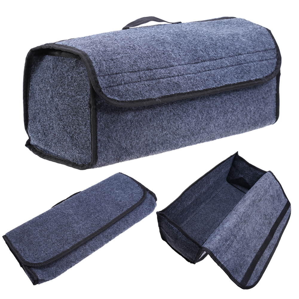 1pcs Car Stowing Tidying Car Van Grey Carpet Boot Storage Bag Organiser Tools Breakdown Travel Tidy Auto Interior Accessories