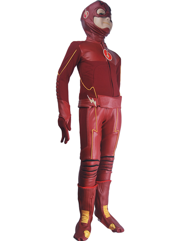 Enfants enfants le Flash saison 4 Barry Allen Flash cosplay costume de luxe déguisement d'halloween super héros costume - 2