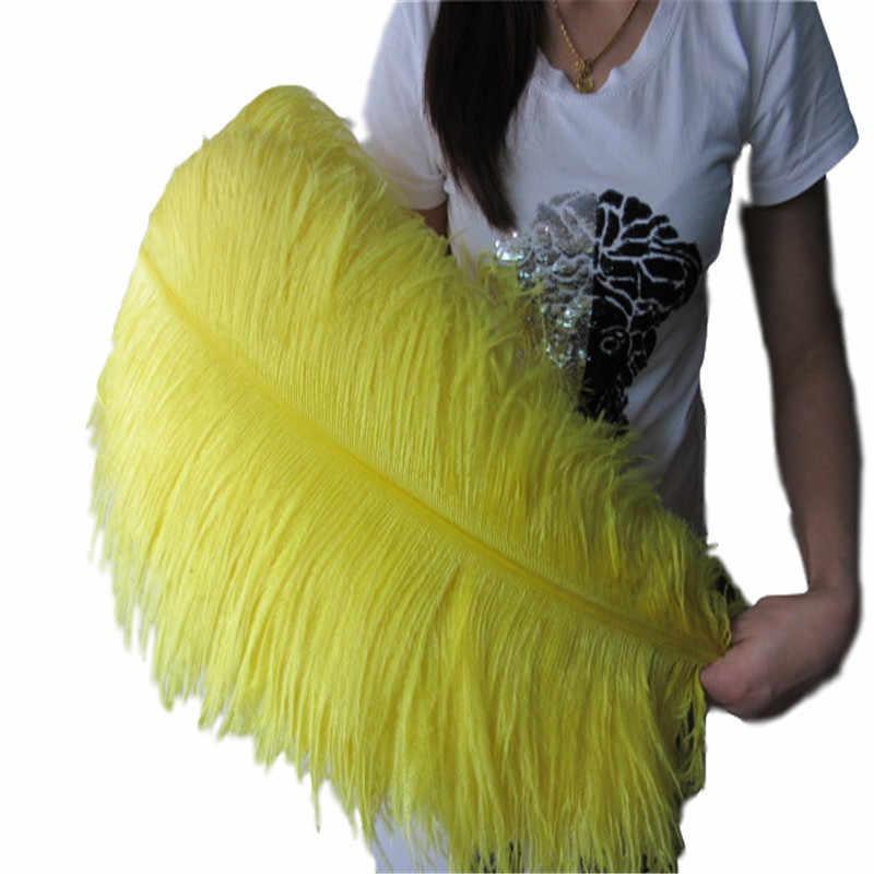 Wholasale 100 pcs אלגנטי לבן יען נוצות 60-65 cm חתונת קרפט ספקי צד קרנבל רקדנית קישוט Plumages