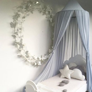 Baby Bed Canopy Bedcover Round Mosquito Net Curtain Bedding Dome Tent Baby Room Decor Sleeping Toddler Infant Crib Netting baby crib net bed curtain canopy children room decor kids tent cotton hung dome mosquito net for baby sleeping photography props