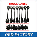 Adapter truck Cable For Tcs CDP Pro Trucks connect cable Full set 8 Truck Cables cable for multidiag pro and wow snooper