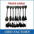 Conecte o cabo adaptador de Cabos de caminhão Para Tcs CDP Pro Caminhões Completo conjunto de 8 Cabos de Caminhão para cabo multidiag pro e wow snooper