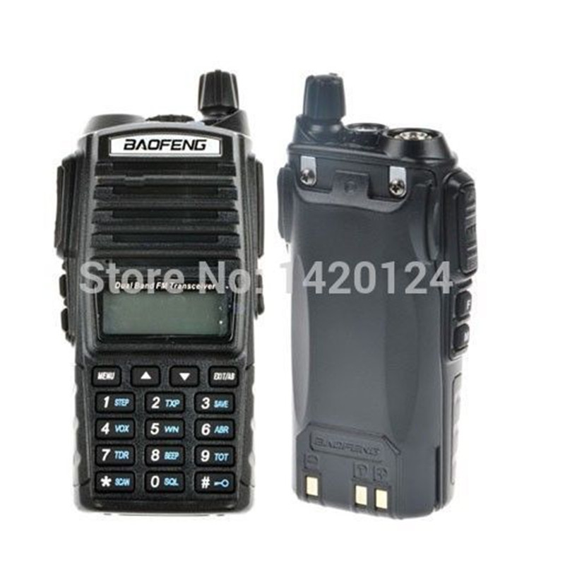 Baofeng UV 82 Two Way Radio Black Dual Band VHF UHF 137 174 400 520MHz Ham